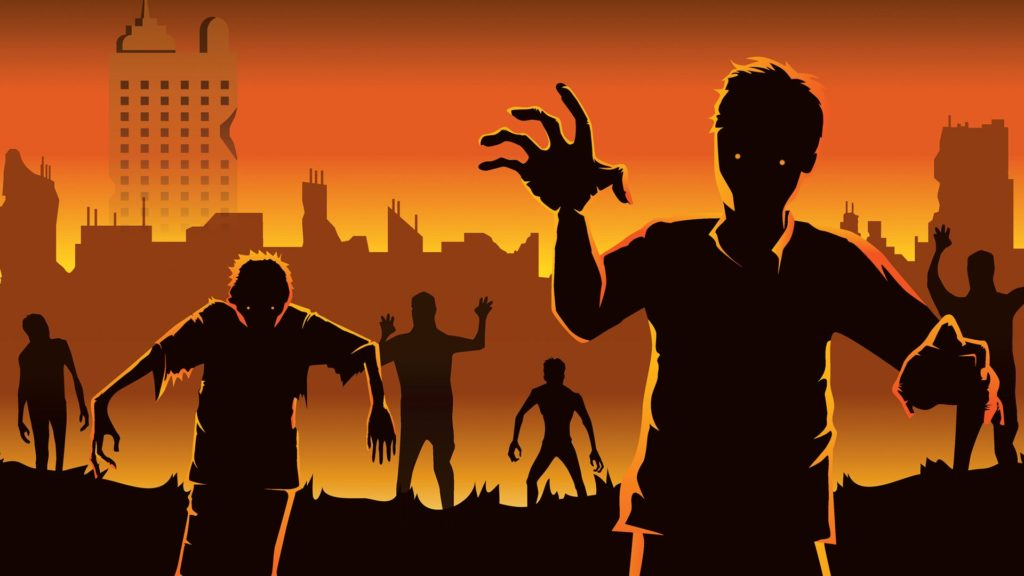 Cartoon Visual of Zombies